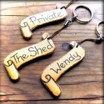 Handcrafted Personalised Wooden Key..